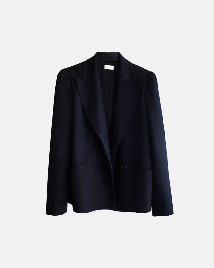 #2 DOUBLE-BREASTED  PUFF WOOL BLAZER